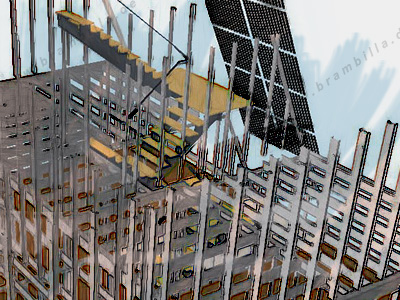 Venus villa platform framing 3D model