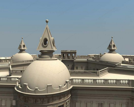 3D-Bridge Main Palace Roof detail